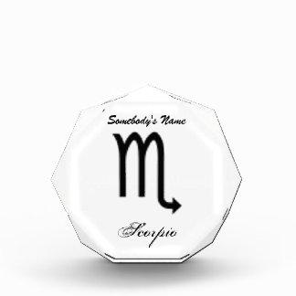 Estándar del símbolo del zodiaco del escorpión