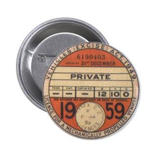 Estándar, disco de impuesto redondo de la insignia pin redondo 5 cm