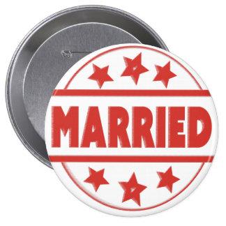 """Estándar grande casado, 5,7 cm (2,25"""") Badg Pin Redondo 10 Cm"""
