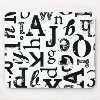 Estándar mezclado Mousepad de la tipografía Alfombrillas De Ratones