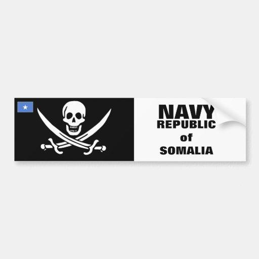 Estándar naval somalí etiqueta de parachoque