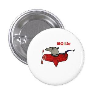 Estándar, piloto redondo del ratón del botón de la pin redondo de 1 pulgada