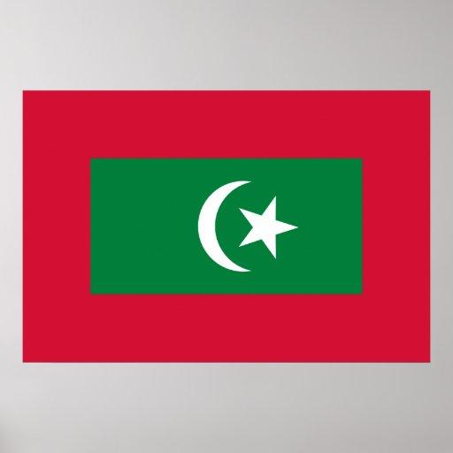 Estándar presidencial de los Maldivas, Malasia Posters