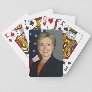 Estándar que juega de la elección 2016 de Hillary Cartas De Juego
