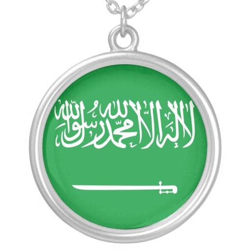 Estándar real bandera de la Arabia Saudita, la Ara Joyerias