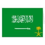 Estándar real bandera de la Arabia Saudita, la Ara Tarjeta