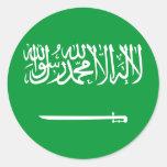 Estándar real bandera de la Arabia Saudita, la Pegatina Redonda