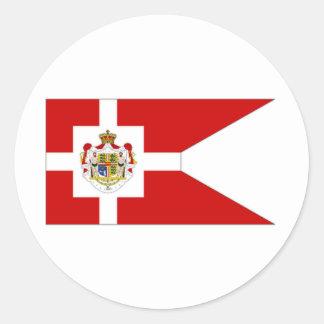 Estándar real de Dinamarca Pegatina Redonda