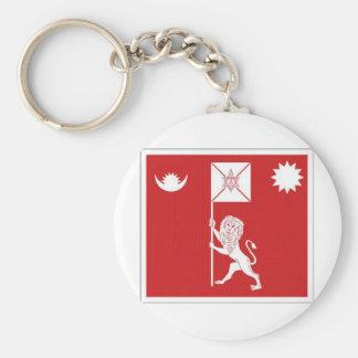 Estándar real de Nepal Llavero Redondo Tipo Pin