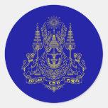 Estándar real del rey Of Camboya, Camboya Etiqueta Redonda