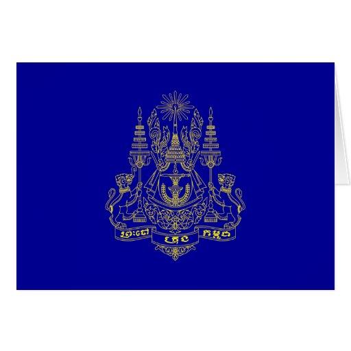 Estándar real del rey Of Camboya, Camboya Tarjetón