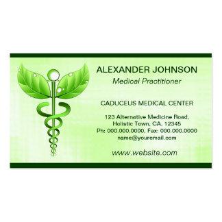 Estándar verde de la luz de la medicina tarjetas de visita