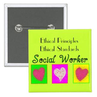 Estándares Principio-Éticos éticos del asistente s Pin Cuadrado