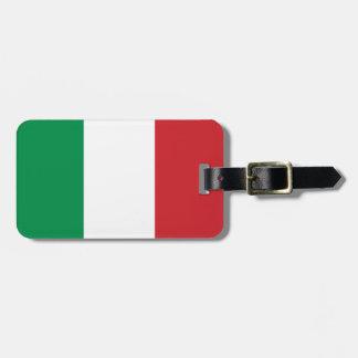 Estandarte italiano etiquetas para maletas