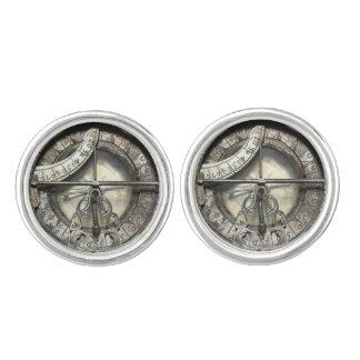 Estaño de plata de la imagen del compás del gemelos