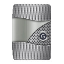 Estaño de plata doble del monograma el   de la cubierta de iPad mini