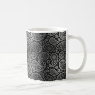 Estaño el | gris de lujo de Paisley Taza Clásica