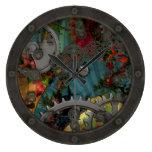 Estaño enrrollado Steampunk del Victorian con la c Reloj