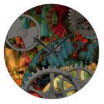 Estaño enrrollado Steampunk del Victorian Reloj De Pared