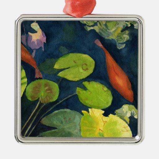 Estanque de peces de Koi Ornamento Para Arbol De Navidad