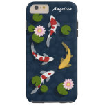 Estanque de peces de Koi del japonés Funda De iPhone 6 Plus Tough