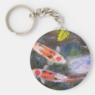 Estanque de peces de Koi Llavero Redondo Tipo Pin