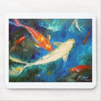 Estanque de peces de Koi Tapete De Ratones