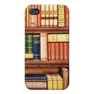 Estante de la biblioteca del vintage de los libros iPhone 4/4S fundas
