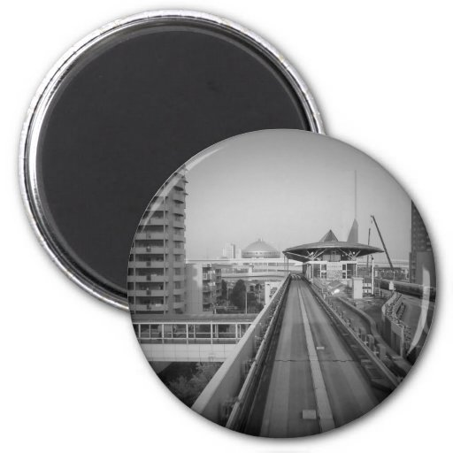 Estante del tren de Tokio Imán Redondo 5 Cm