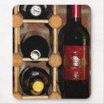 Estante del vino tapete de ratón