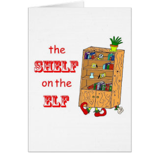 Estante en la tarjeta de Navidad divertida del