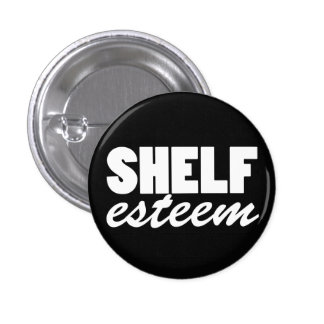 Estante-estima (botón) pin redondo de 1 pulgada
