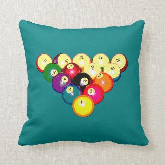 Estante lleno 8-Ball de los billares Cojín Decorativo