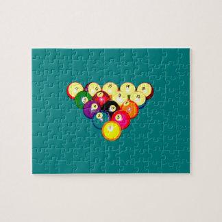Estante lleno 8-Ball de los billares Puzzle Con Fotos