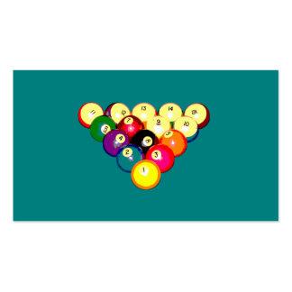 Estante lleno 8-Ball de los billares Tarjetas De Visita