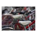 Estantes de ciclo de la bici del ciclo de la bicic tarjeta