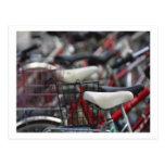 Estantes de ciclo de la bici del ciclo de la bicic tarjetas postales