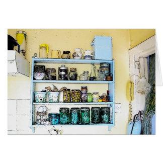 Estantes de la cocina del patsy tarjeta