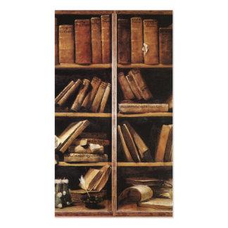 Estantes de librería del vintage plantilla de tarjeta de visita