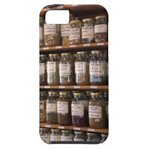 Estantes de los tarros de la hierba iPhone 5 carcasas