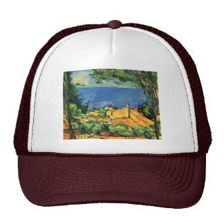 Estaque con los tejados rojos de Paul Cézanne Gorros Bordados