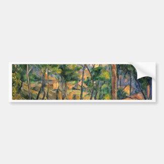 Estaque View Through The Pines By Paul Cézanne Car Bumper Sticker