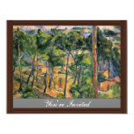 "Estaque View Through The Pines By Paul Cézanne 4.25"" X 5.5"" Invitation Card"