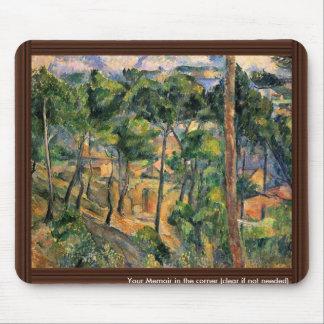 Estaque View Through The Pines By Paul Cézanne Mouse Pad