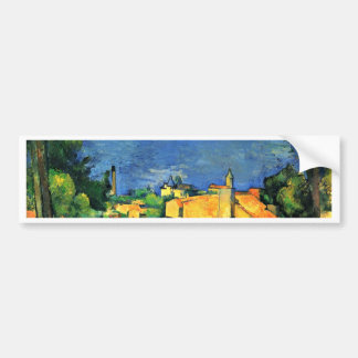 Estaque With Red Roofs By Paul Cézanne Car Bumper Sticker