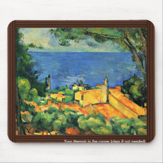 Estaque With Red Roofs By Paul Cézanne Mouse Pad