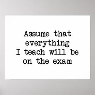 Estará en el examen póster