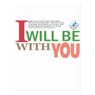Estaré con usted tarjeta postal