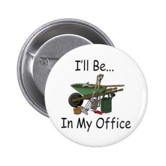 Estaré en mi oficina pin redondo 5 cm