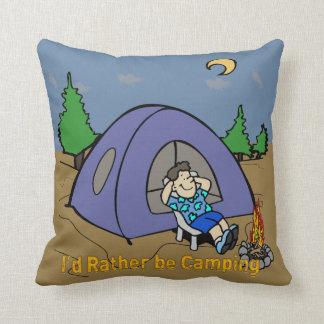 Estaría acampando bastante - americano MoJo T de l Almohada